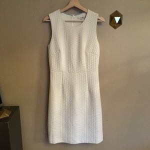Boden Audrey Square Jacquard Dress Cream US 8